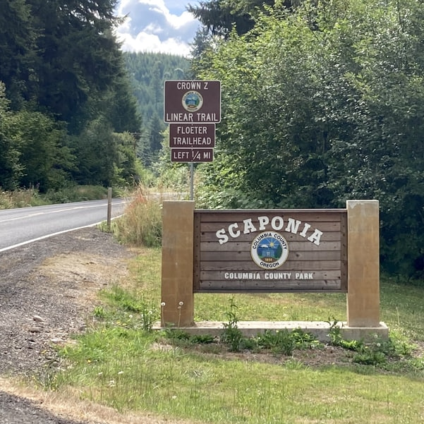Scaponia park scapppoose vernonia highway cz trail columbia county oregon