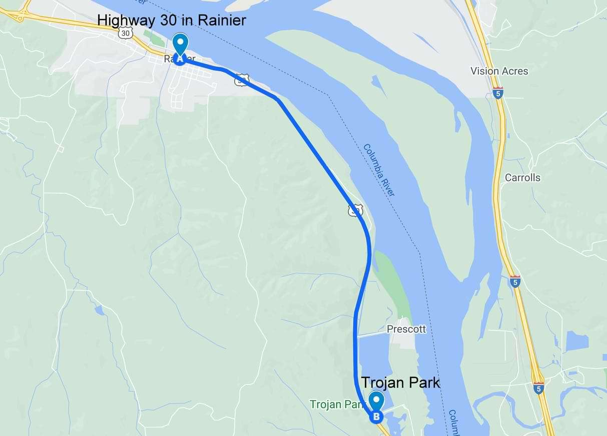 Directions to Trojan Park Nuclear Power Plant rainier oregon columbia county