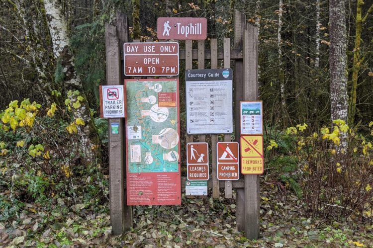 Tophill Trailhead Banks-Vernonia Trail linear park columbia county
