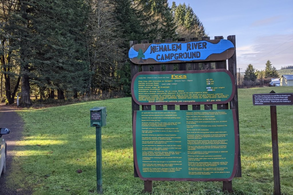 Nehalem River Park and Campground vernonia oregon columbia county