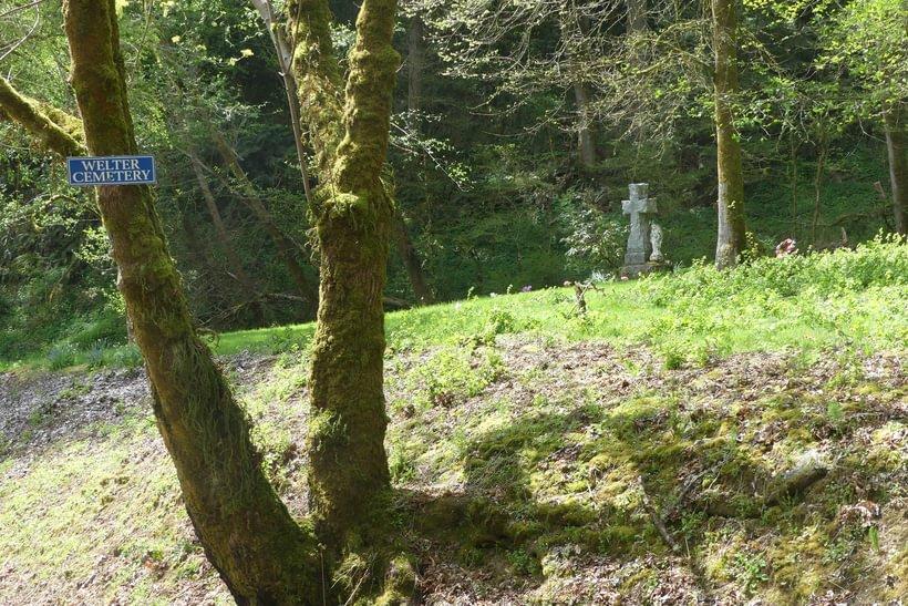 Welter Cemetery goble prescott rainier columbia county oregon trojan park highway 30