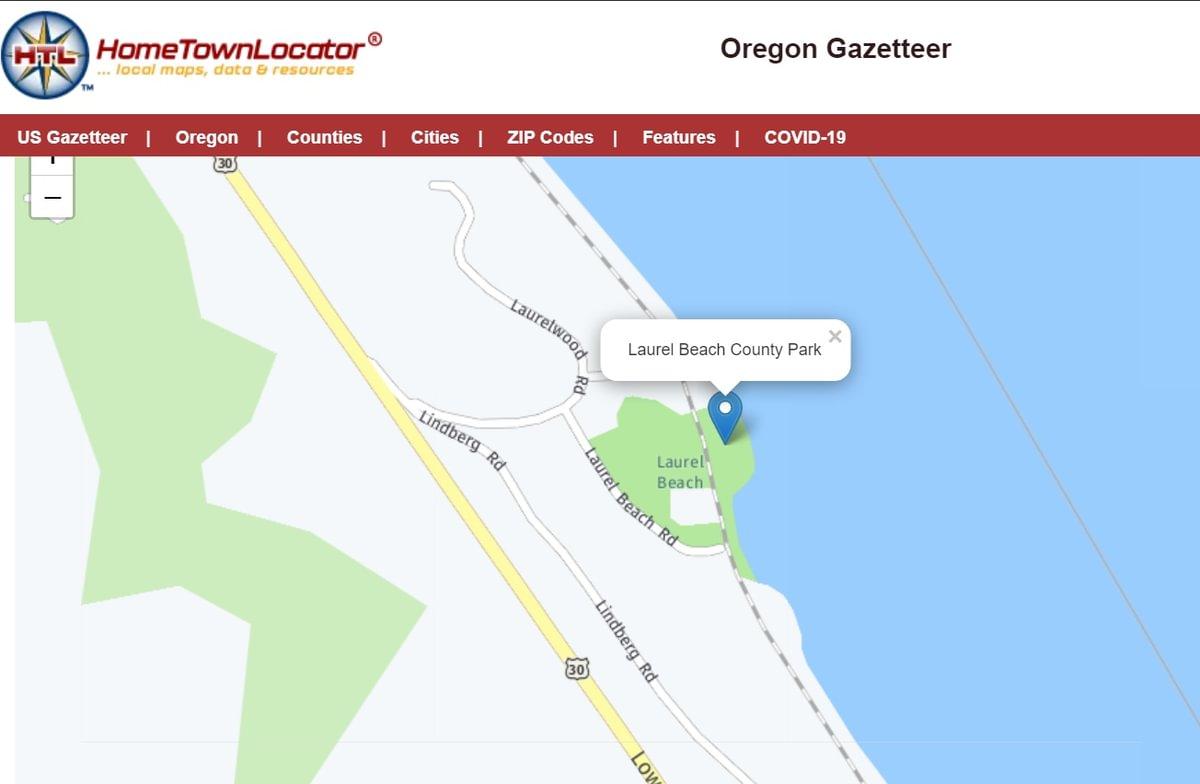 Laurel Beach Park Columbia County Rainier Oregon closed