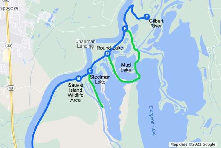 Sauvie Island Wildlife Area Westside Unit map Columbia County Oregon