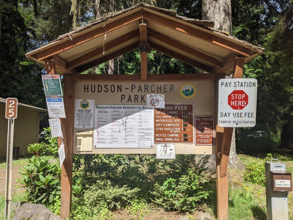 Hudson-Parcher County Park campground Rainier Oregon Columbia County