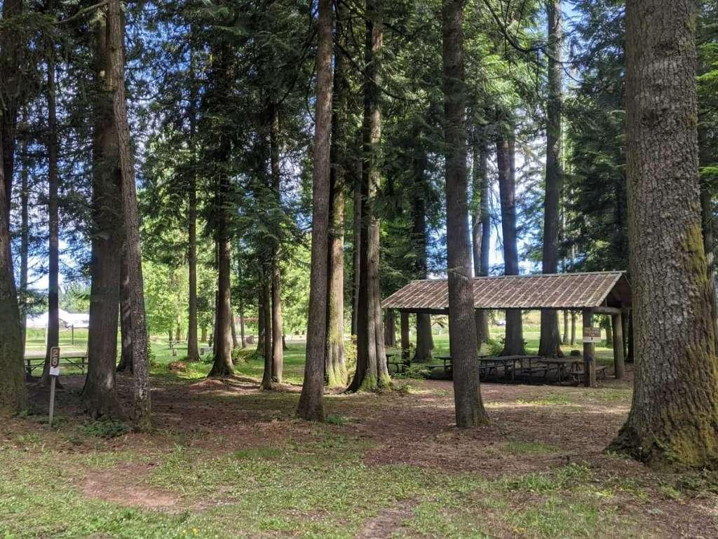 Hudson-Parcher County Park campsite campground Rainier Oregon Columbia County campsite campground