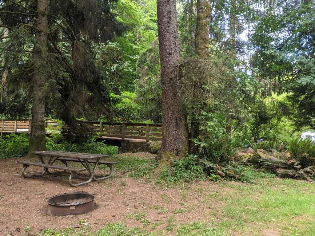 Hudson-Parcher County Park campsite campground Rainier Oregon Columbia County