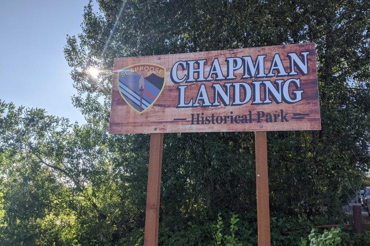 Chapman Landing sign CZ Trail Crown Z scappoose oregon columbia county